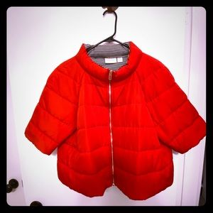 Chico's Short Sleeve Red Puffer Jacket